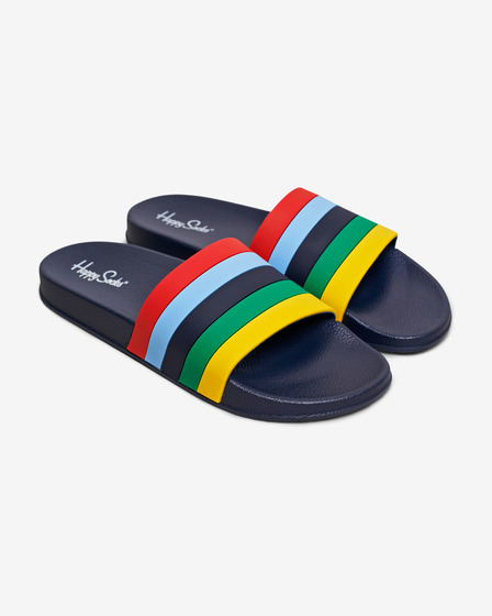 Happy Socks Pool Slider Stripe Kapcie